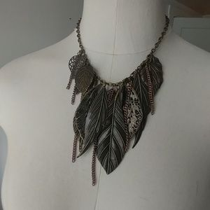 Cookie Lee leaves statement necklace